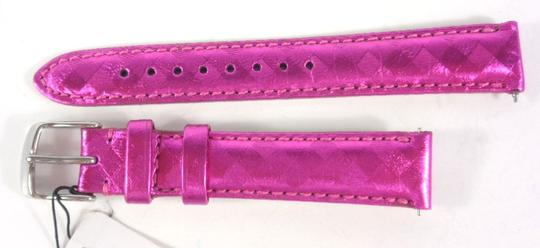 Michele Michele MS16AA430690 16mm Fuchsia Pink Leather Watch Band NEW!