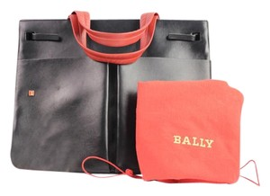 Bally Bicolor Red Tote Satchel