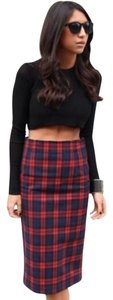 Zara Skirt Red and navy