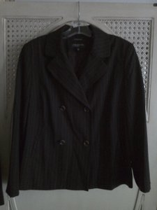 Jones New York Double Breasted Pockets Brown Blazer