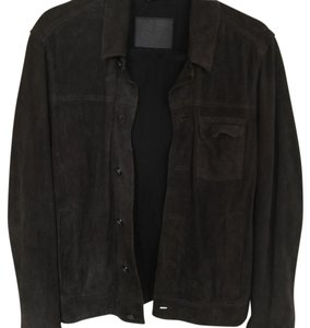 AllSaints Charcoal Leather Jacket