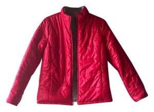 Puffer Quilted Reversable red and gray Jacket