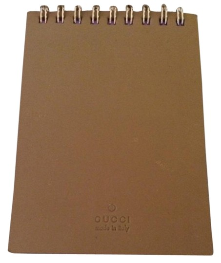 Preload https://item1.tradesy.com/images/gucci-tan-leather-notepad-with-lavender-pages-19646655-0-1.jpg?width=440&height=440