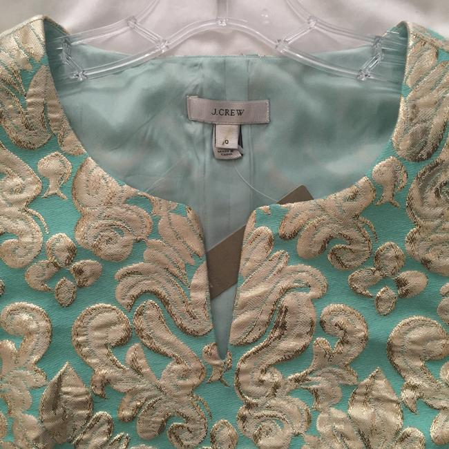 J.Crew Top Minty green and gold