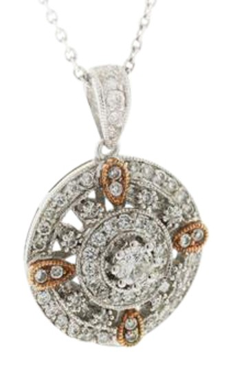 Preload https://item3.tradesy.com/images/diamond-round-circle-floral-pendant-vintage-antique-necklace-19646732-0-3.jpg?width=440&height=440
