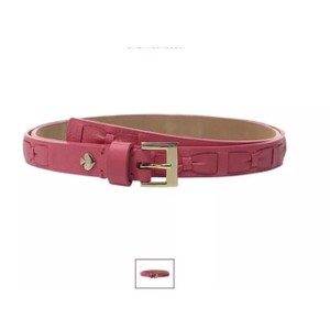 Kate Spade NEW Kate Spade Leather Shrunken Panel Woven Bow Belt