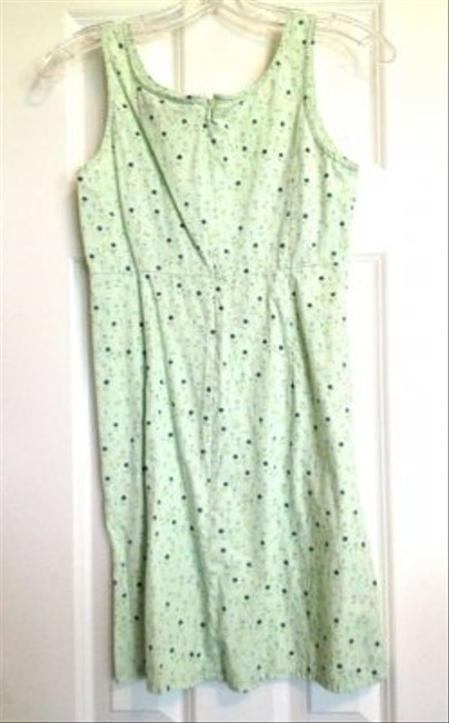 American Eagle Outfitters short dress Light Green/Mint Cotton Knee Length Fitted Scoop Neck on Tradesy
