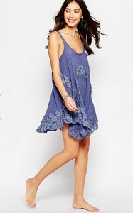Free People short dress Stardust High Low Vintage Leather on Tradesy