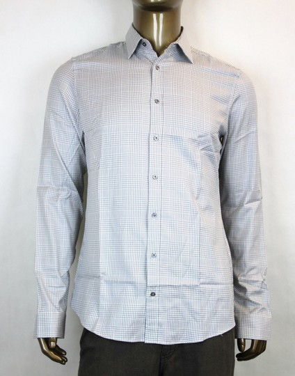 Preload https://img-static.tradesy.com/item/19647002/gucci-whitegray-men-s-dress-slim-fit-check-17-307648-1542-shirt-0-0-540-540.jpg