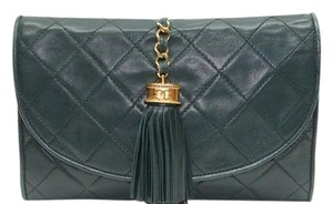 Chanel Hunter Green Clutch