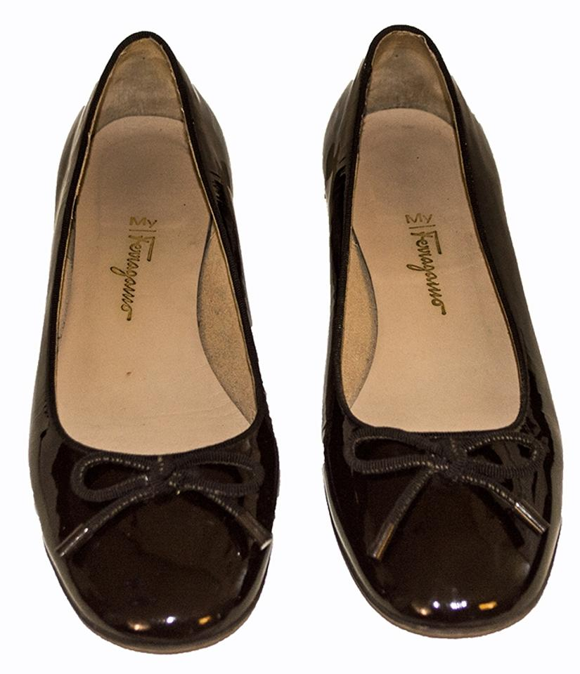 salvatore ferragamo brown flats flats on sale. Black Bedroom Furniture Sets. Home Design Ideas