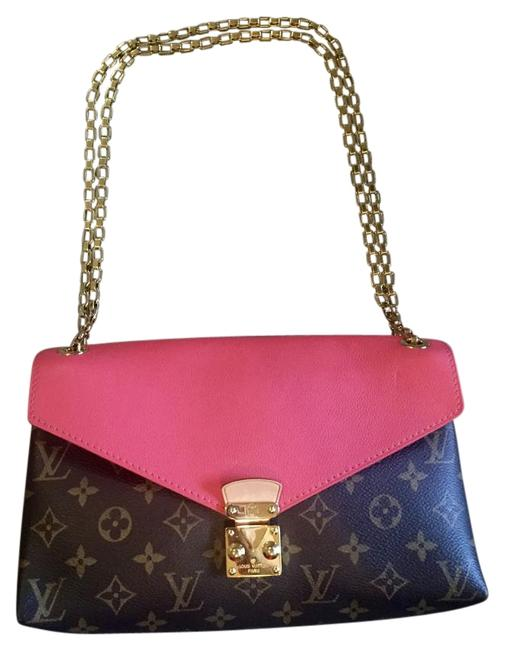 Item - Pallas Chain Burgundy Brown and Poppy Leather Shoulder Bag