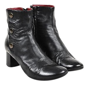Chlo Chloe Leather Button Black Boots