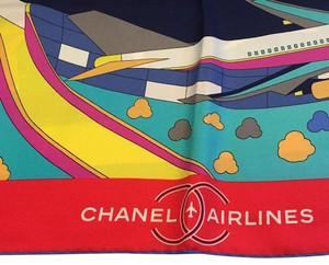 Chanel CHANEL NWT 100% SILK TURQUOISE MULTI COLOR SQUARE SCARF ($700)