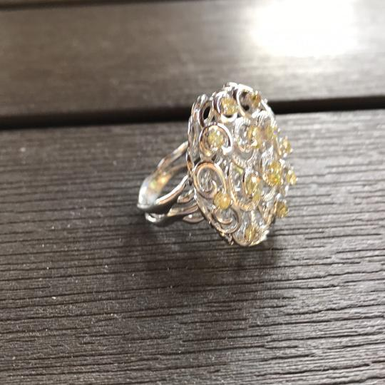 Yellow diamond cocktail ring Cocktail Ring