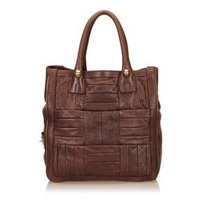 Chloé Leather Others Tote in Brown