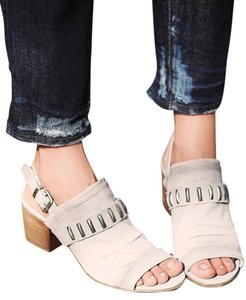 Manas Free People Slingback Grey Leather Grey/Taupe Sandals