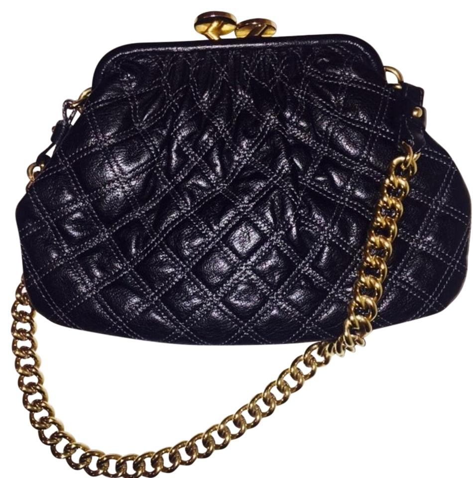 095b832b3848 Marc Jacobs Quilted Purse Black Lambskin Leather Shoulder Bag - Tradesy