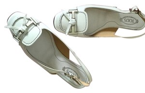 Tod's Never Worn White patent Flats