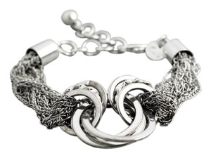 Sterling Silver, Multi-Chained, Lobster Claw Clasp Bracelet