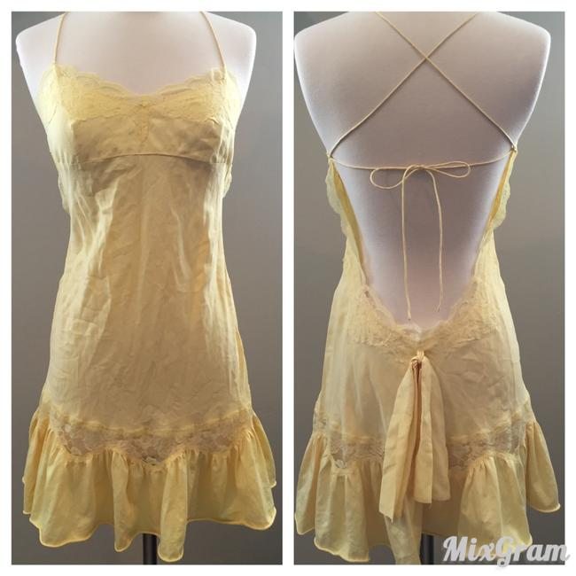 Preload https://img-static.tradesy.com/item/19647593/victoria-s-secret-yellow-silk-and-lace-open-back-slip-above-knee-short-casual-dress-size-2-xs-0-0-650-650.jpg