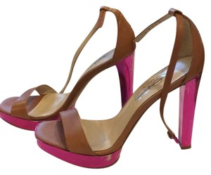 Michael Kors Brown pink Platforms