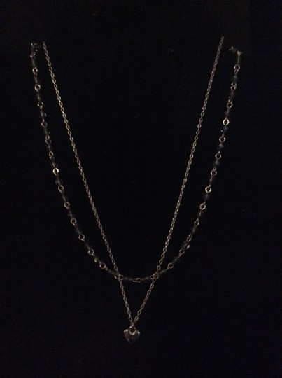 Other Layered grey beaded necklace