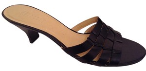 Carole Little Size 7.5 M Black Mules