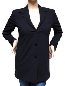 Max Mara Padded Made In Italy Partially Lined Euc Black Jacket