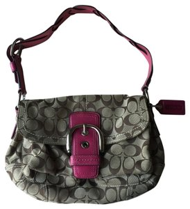 Coach Pink Tan Purse Shoulder Bag