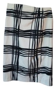 Express Pencil Contemporary Skirt Black and White