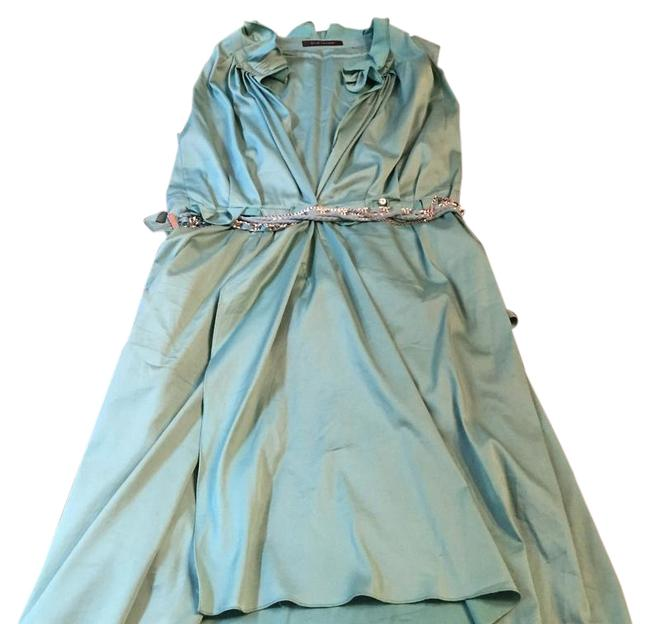 Preload https://img-static.tradesy.com/item/19647817/teal-knee-length-cocktail-dress-size-6-s-0-1-650-650.jpg