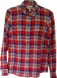 J. Crew Button Down Shirt Red/blue Plaid