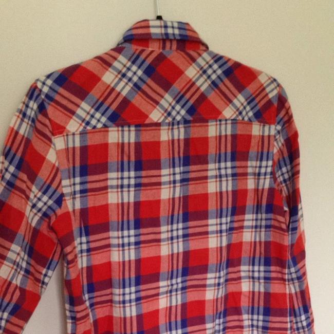 J.Crew Button Down Shirt Red/blue Plaid