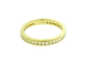 Hearts On Fire 18k Gold Stackable Milgrain Eternity Diamond Wedding Band Sz 65