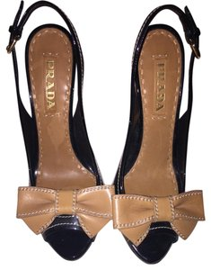 Prada Black and brown Platforms