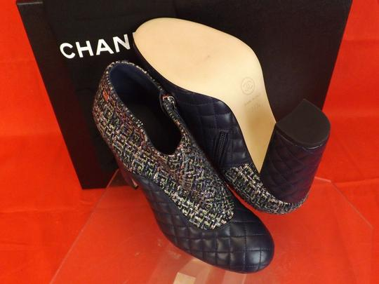 Chanel Green/Navy Blue Boots