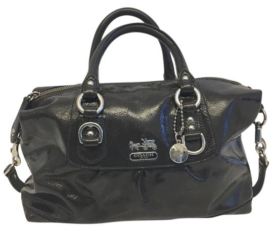 Preload https://img-static.tradesy.com/item/19647939/coach-madison-sabrina-dark-grey-patent-leather-satchel-0-1-540-540.jpg