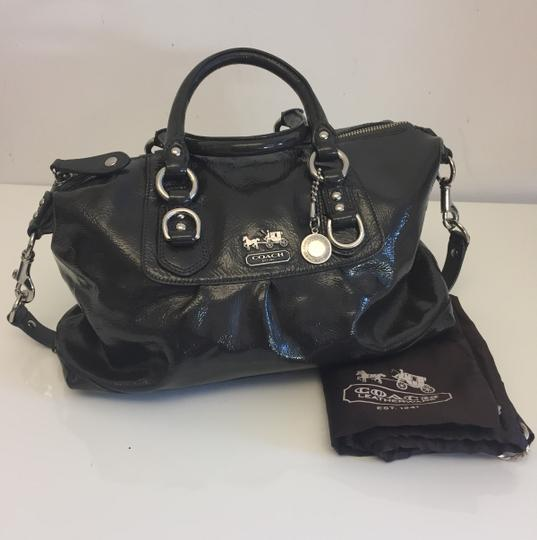 Coach Sabrina Handbag Leather Satchel in Dark Grey