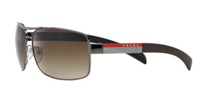 Prada Prada Sport SPS54I Sunglasses PS54I Gun-Metal 5AV6S1 Authentic