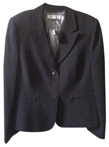 Tahari Designer Zipper Fully Lined Black Blazer