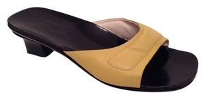 Jil Sander Yellow Leather Pistachio Yellow Mules