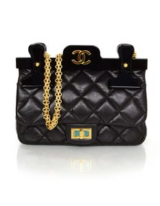 Chanel New Quilted Front Flap Logo Cross Body Bag
