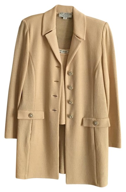 Preload https://item5.tradesy.com/images/st-john-beige-classic-evening-long-jacket-and-shell-by-marie-grey-cardigan-size-8-m-19648559-0-1.jpg?width=400&height=650