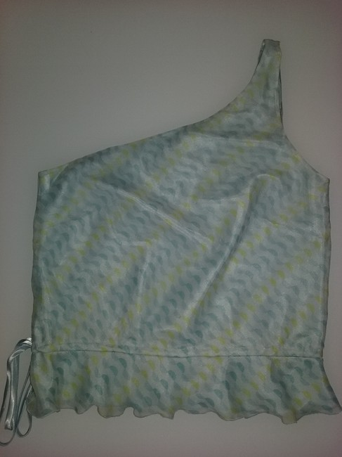 Laundry by Shelli Segal Silk Blue Halter Top