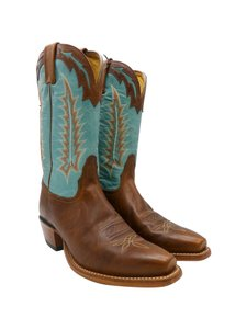 Tony Lama Brown Turquoise Boots