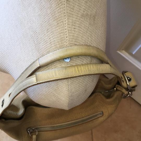 Coach Pebbled Leather Zip Close Hobo Bag