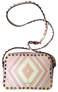 Valentino Rockstud Stud Chevron Native Cross Body Bag