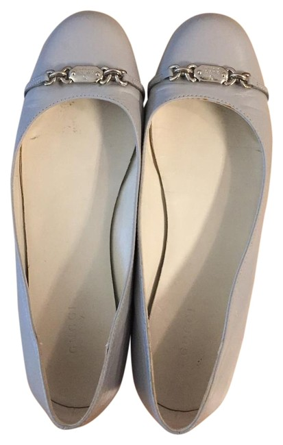 Gucci Gray Smooth Leather Flats Size US 8 Regular (M, B) Gucci Gray Smooth Leather Flats Size US 8 Regular (M, B) Image 1