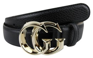 Gucci Gucci Leather Belt Gold Interlocking G Buckle 90/36 362727 1000